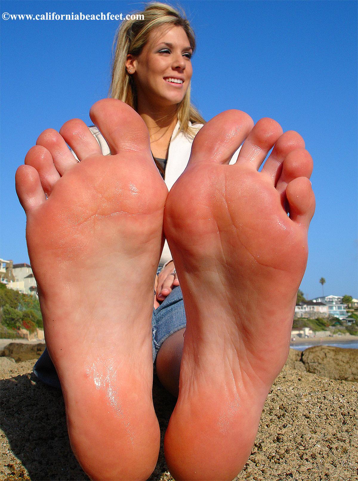california beach feet pictures